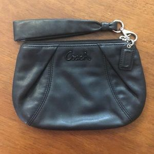 Small leather Coach wristlet